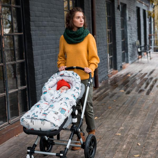 Конверт для коляски LeoKid classic «Cute Park»