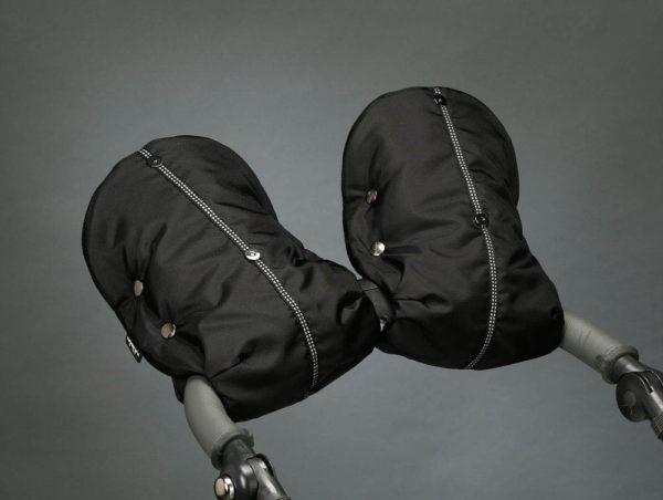 Муфта для рук на коляску черная U.D.LINDEN «BLACK-FLEECE DOUBLE»