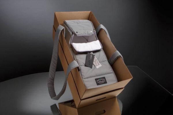 Сумка переноска для новорожденных серая U.D.LINDEN EINZELBOOT STEEL GREY