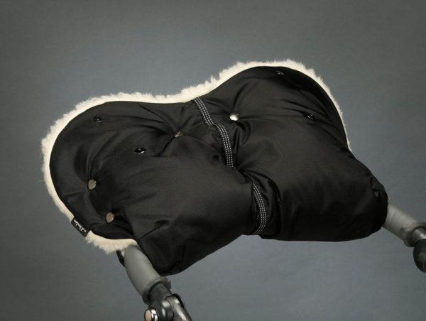 Муфта для рук на коляску ЧЕРНАЯ U.D.LINDEN «WALROSS»
