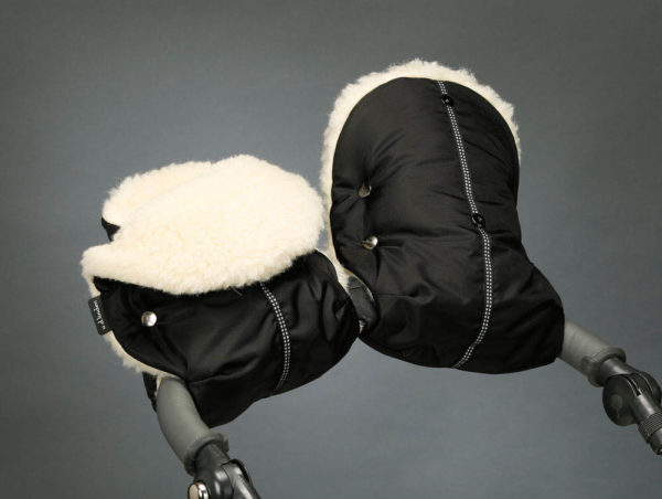 Муфта для рук на коляску черная U.D.LINDEN «WALROSS DOUBLE»