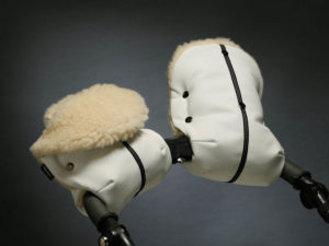 Муфта на коляску белая экокожа U.D.LINDEN «WHITE MERINO DOUBLE»