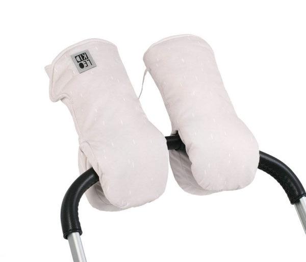 Муфты-варежки для коляски Белая LeoKid «TINT»
